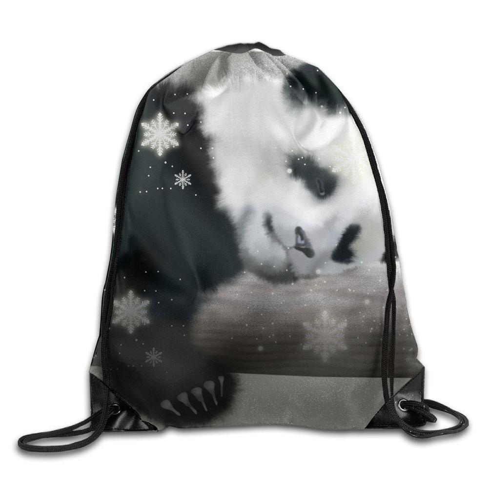 Titan's Mother Gym Drawstring Bags Sleeping Panda Baby Bag School Fitness Travel Outdoor