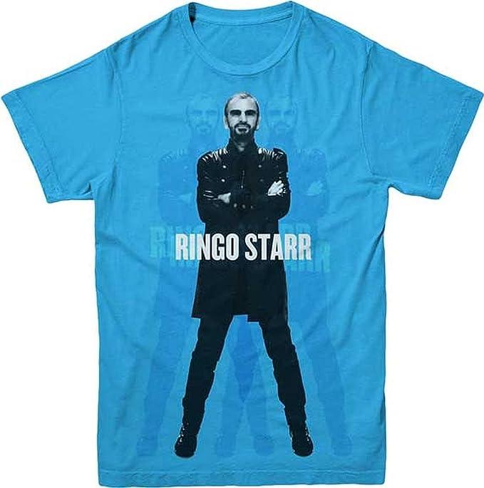 ill Rock Merch The Beatles Ringo Starr Standing Blue T-Shirt