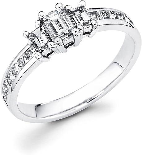 1//4 ct Three Stone Diamond Engagement Womens Anniversary Ring 14k White Gold