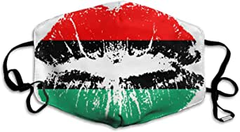 Amazon.com: African American Heritage Flag Colors Lips