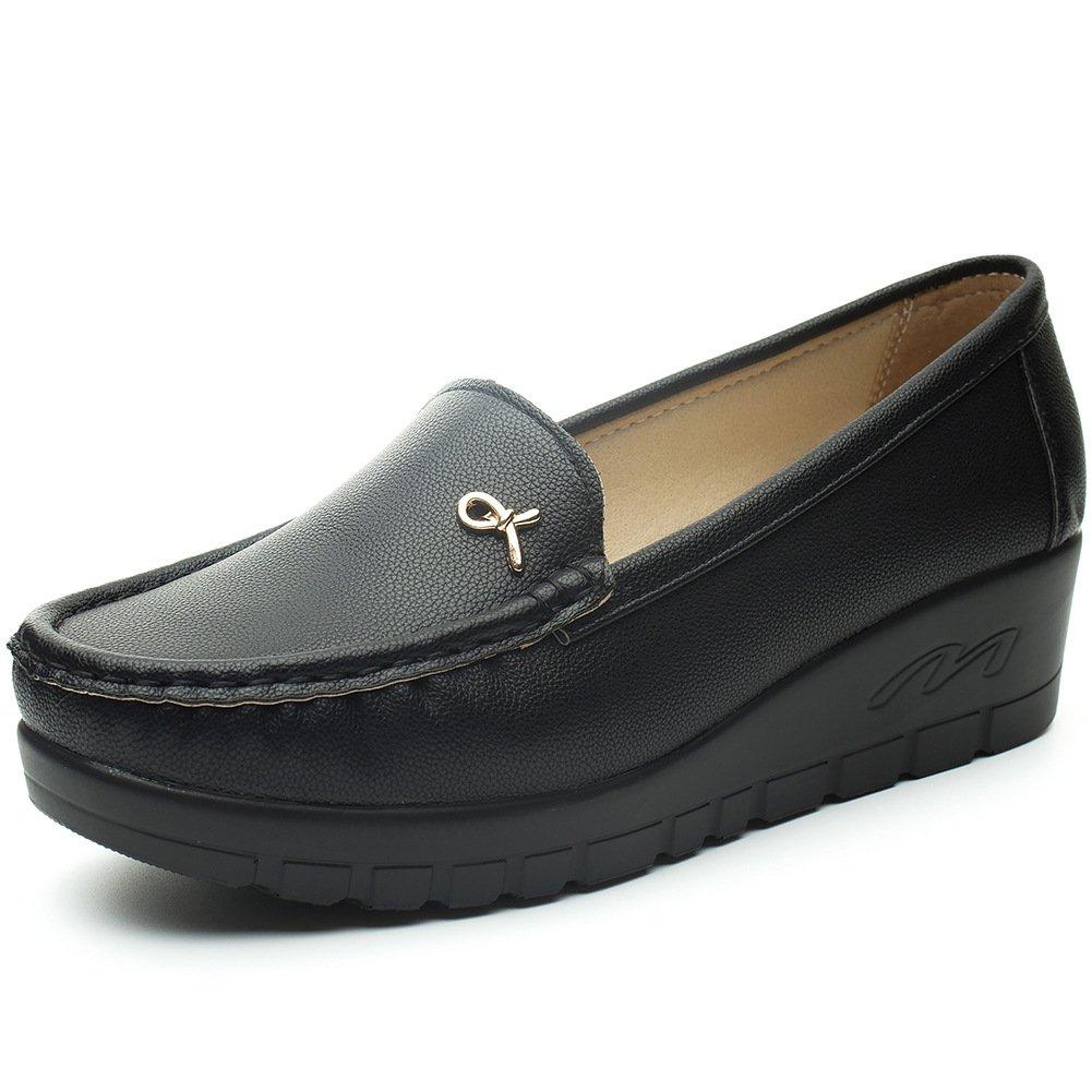 Cestfini Chaussures Mocassin Plat Noir des Femmes - Mocassins De Dames De  avec Le Talon Compensé a6d872a23a49