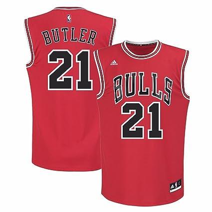 d607fe467 adidas Jimmy Butler Chicago Bulls NBA Men's Red Official Away Replica Jersey