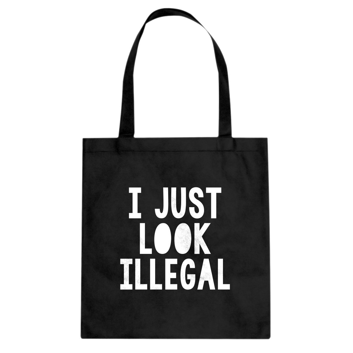 Indica Plateau I just Look Illegal Cotton Canvas Tote Bag