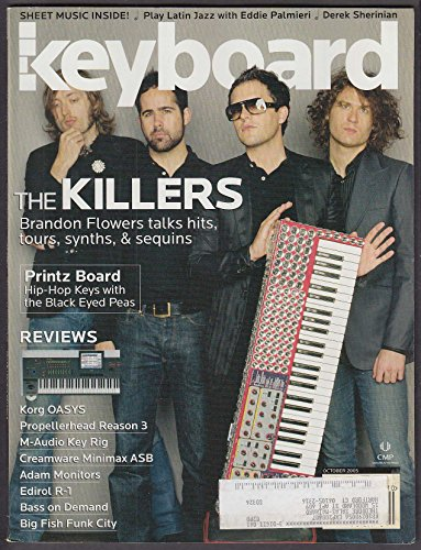 KEYBOARD The Killers Brandon Flowers Printz Board Black Eyed Peas ++ 10 2005