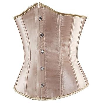 7e52d9e3293 Nicetage Women s Satin Vintage Lace Up Boned Lingerie Bridal Underbust  Corset Waist Training Shaper
