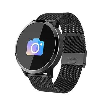 Q8 Reloj Inteligente, Waterproof Smartwatch con cámara para hombre mujer niños, rastreador de fitness con Monitor de Ritmo Cardíaco/presión ...