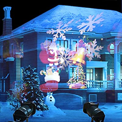 LEEPO Projectable LED Spotlight Sparkling Projector, Wall and Christmas Holiday Party Decoration Landscape