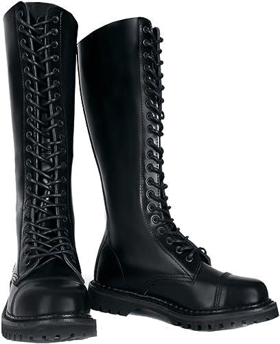 SharpSpirit Leather Steel Toe Knee High