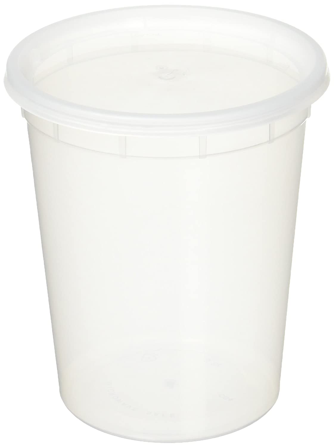Reditainer Deli Food Storage Containers with Lid, 32-Ounce, 24-Pack RTRR2432