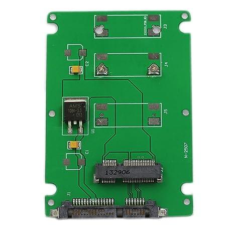 TOOGOO(R) 50mm mini PCI-E mSATA SSD a 7mm 2.5 pulgada SATA 22 ...