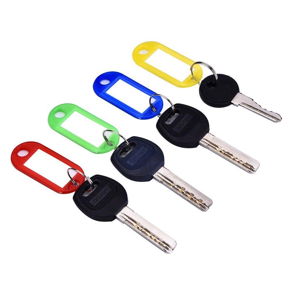 Etichetta di identificazione in plastica per portachiavi 30 pezzi Homiki colorate con anello