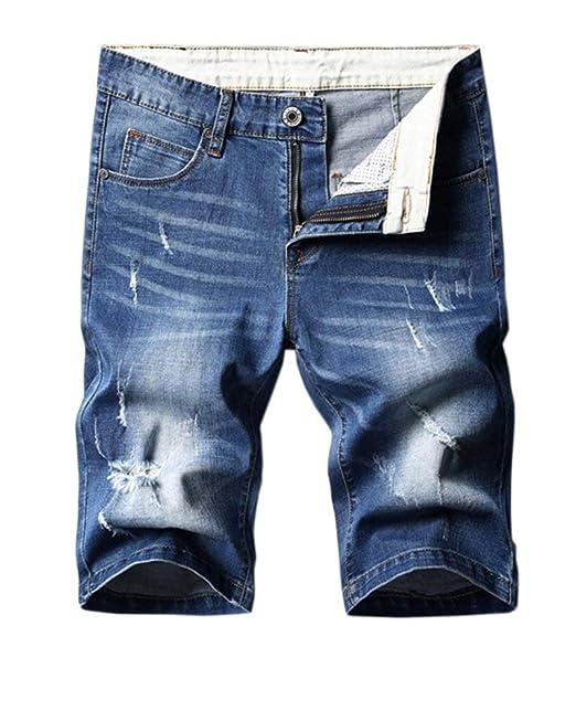 BOLAWOO-77 Pantalones Cortos De Básicos Jeans Pantalón ...