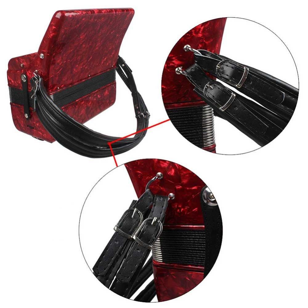 Tbest 1/Paire R/églable Accord/éon /épaule Bras de Sangles Accord/éon Accord/éon Cuir PU Ceinture de Rouge//Blanc//Noir Noir
