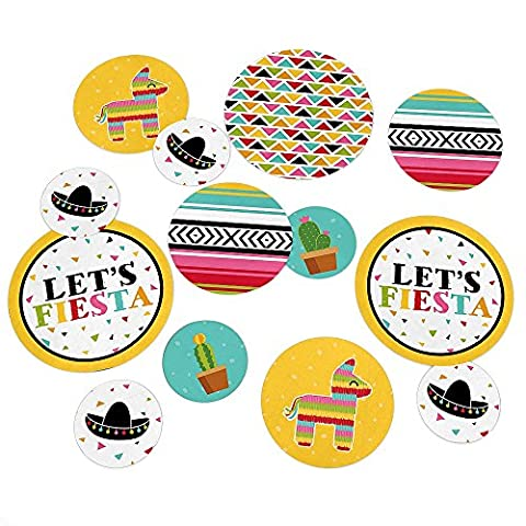 Let's Fiesta - Mexican Fiesta Party Table Confetti - 27 Count - Fiesta Table