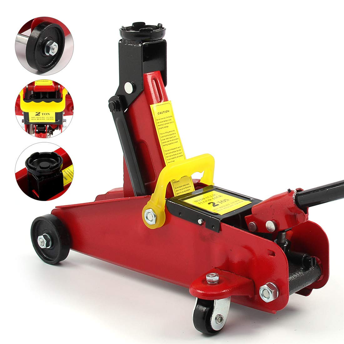 Car Jack Kit 2 Ton Hydraulic Jack Extend From 135MM To 320MM /& 3 Ton Heavy Duty Car Jack Axle Stands