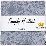 Simply Neutral Chips 42 5-inch Squares Charm Pack Northcott