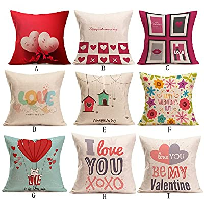 Throw Pillow Cover, DaySeventh Valentine's Day Fashion Throw Pillow Cases Cafe Sofa Cushion Cover Home Decor 18x18 Inch 45x45 cm