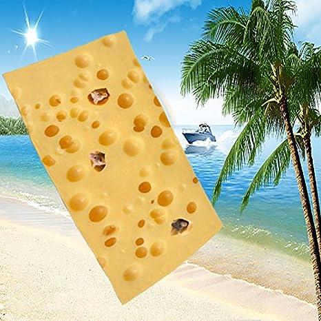 Toallas de playa en los ratones de verano comen queso modelado 3D digital impresión doble uso toallas , 70*140: Amazon.es: Hogar