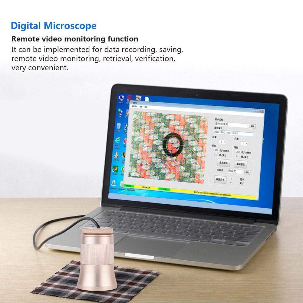 Naroote Digital 300X Microscope Automatic Textile Analysis Thread Counter with 2MP Sensors