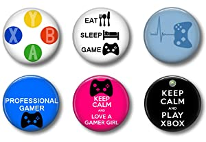 Video Game Gamer Magnets: Cute Locker Magnets for Boys and Girls (XB)