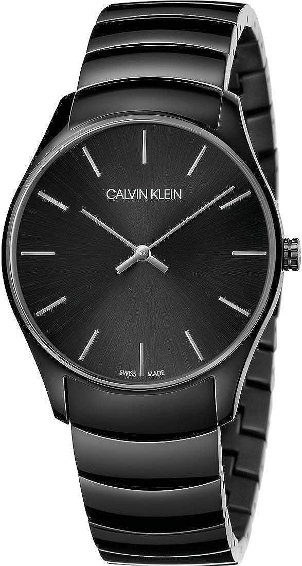 Calvin Klein Reloj Analógico-Digital para Unisex Adultos de Cuarzo con Correa en Acero Inoxidable K4D21441