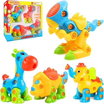 Amazon.com: AUUGUU Dinosaur STEM Juguetes, Take Apart Juego ...