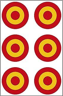 ESPAÑA Fuerza Aérea Española Avión Medallón 40mmPegatina de Vinilo Adhesivo, Sticker, Calcomania …: Amazon.es: Coche y moto