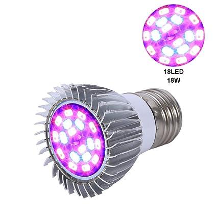 LED Lámpara de Crecimiento Vegetal, Lampara para Plantas 18W E27 Para Interior Plantas Siembra &