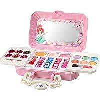 Makeup Toy Set Safe & Non-Toxic Pretend Play Makeup Toy Beauty Salon Playset for Girls Kids Princess Vanity Case Dress…
