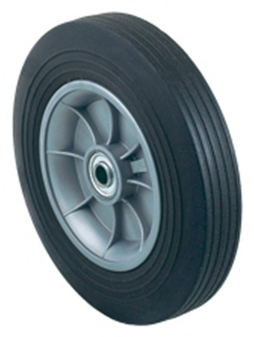 Harper Trucks WH 86 Flat Free Solid Rubber 10 Inch by 2 Inch Ball Bearing Poly Hub Hand Truck Wheel