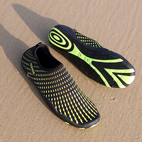 Schuhchan Männer Frauen Barfuß Quick-Dry Wassersport Aqua Schuhe für Beach Pool Surf Yoga Gelb
