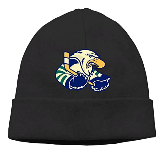 Eagles Fan Beanie Hats Eagle Playing Ice Hockey With Stick Cable Knit Skull  Caps Thick Soft 3d6cd00a14e