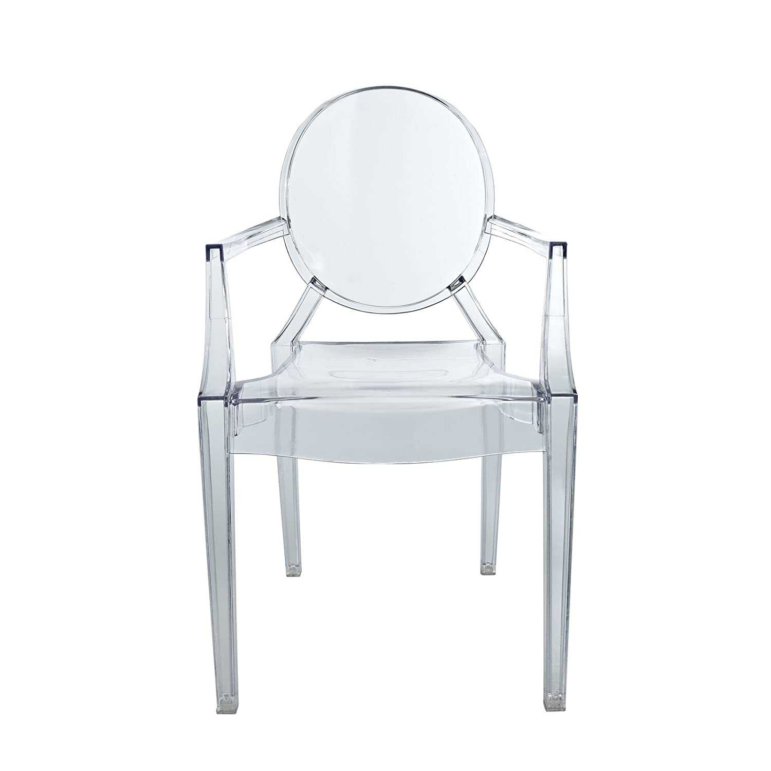 Amazon Modway Casper Kids Chair in Clear Kitchen & Dining