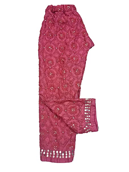 4d23729674fab Sahej Suits Women s Chanderi Phulkari Plazo (Free Size