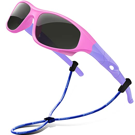 c24ba1abe7a Image Unavailable. Image not available for. Color  SEEKWAY Polarized Kids  Sunglasses For Boys Girls Child Rubber Flexible ...