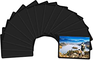 Magicfly Magnetic Photo Frame, 2.5 x 3.5 Inches Magnetic Photo Frames for Refrigerator, Fridge Photo Frames for Fridge, Office Cabinet, Locker, Pack of 15, Black