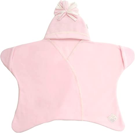 Tuppence and Crumble Star Baby Wrap Rose Pink size Large