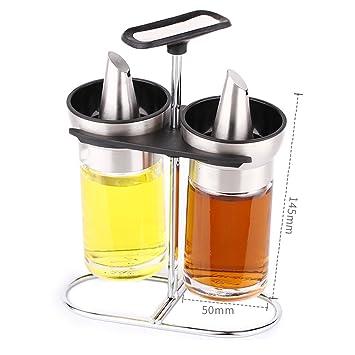 GARDEN botellas del condimento Apertura Automática y Cierre Botella de Vinagre Pequeño Botella de Salsa de