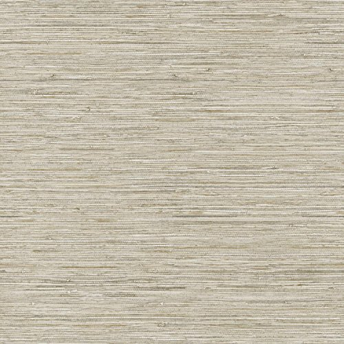 York Wallcoverings Nautical Living Horizontal Grass Cloth Removable Wallpaper, Beige/Taupe/Cream/Gold Vein