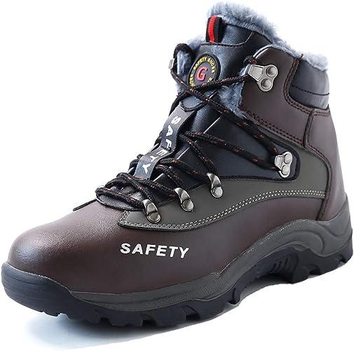 Winter Warm Sicherheitsschuhe Arbeitsschuhe S3 Mit Stahlkappe Schutzstiefel