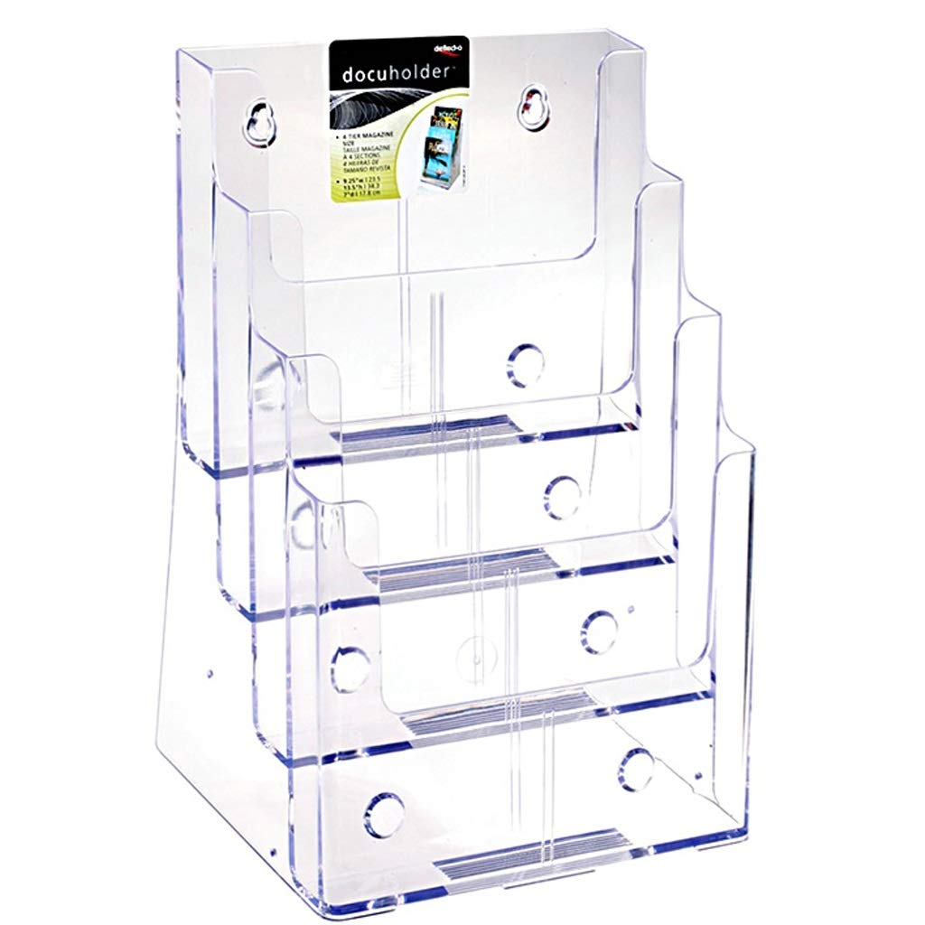 LPYMX Menu Holder Flyer Holder for Four-Layer Dispenser for A4 Flyers and brochures A4 Display Stand by LPYMX