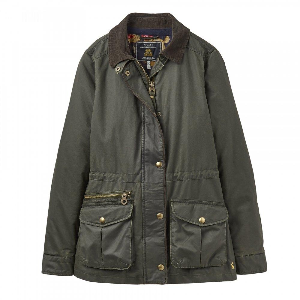 Joules Balmoral Faux Wax Womens Jacket (X) Everglade UK12 EU40 US8