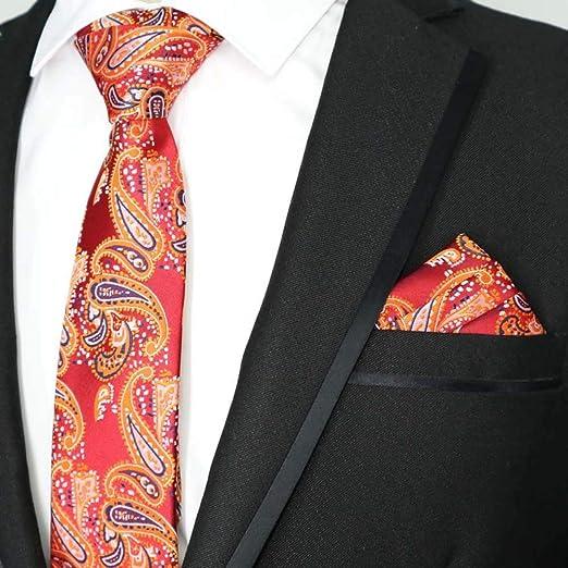QEHWS Corbata Tie Pocket Square Set Corbata Clásica Corbata, 34 ...