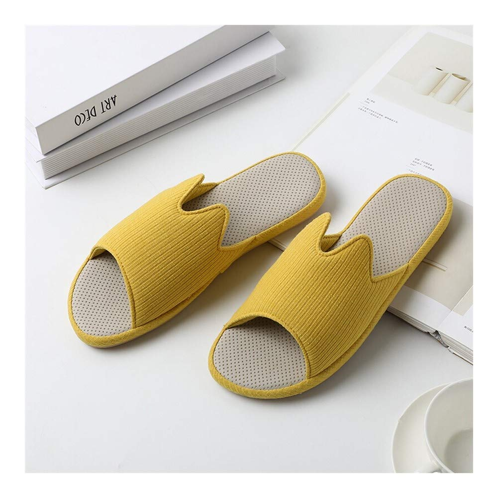 HOUSEHOLD Slippers Women's Anti Slip Easy Close Wide Fitting Slippers Hardwearing Light Weight House Shoes Slipper Comfort Memory Foam Slippers Shoes (Color : Yellow, Size : XXXL) by HOUSEHOLD