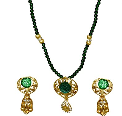 Kshitij Jewels Metal Pendant Jewellery Set For Women (KJM 057) Jewellery Sets at amazon