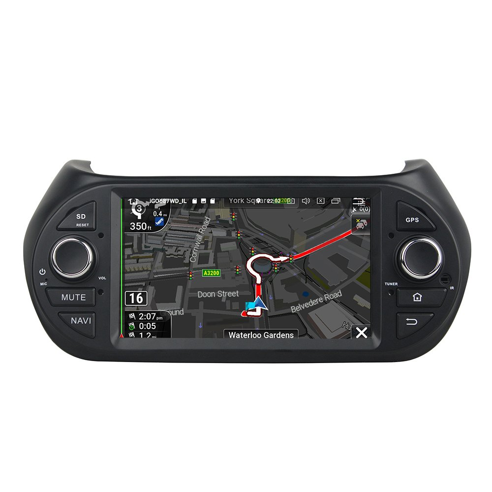 Kunfine Android 8.0 Octa Core Car DVD GPS Navigation Multimedia Player Car Stereo for Fiat Fiorino Citroen Nemo Peugeot Bipper 2008-2016 Autoradio Volante ...