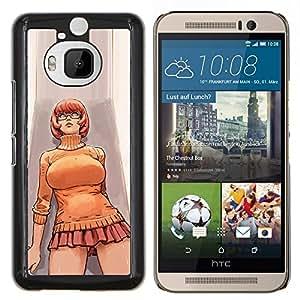 TECHCASE---Cubierta de la caja de protección para la piel dura ** HTC One M9+ M9 Plus ** --corta chica mujer falda hot boobs piernas