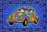 Peace Love Bug Car Tapestry by Artist Dan Morris