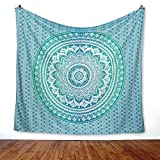 ''New Launched'' ''CHAKRA'' Tapestry (RKP4) Bohemian Hippy Life Relaxing Meditation Mandala With Famous Chakra Print For Peace Happiness And Healing, Color- Green