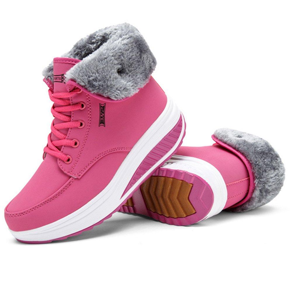 XIANV Schuhe Winter Weibliche Plus Samt Swing Schuhe XIANV Schnee Plattform Stiefel Frauen Thermische Baumwolle Gepolsterte Schuhe Flache Stiefeletten Rosa ad5eb5